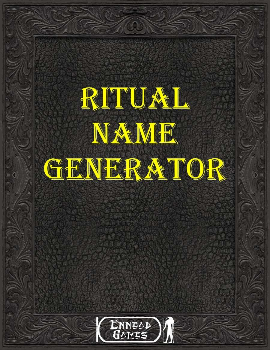 Ritual Name Generator Ennead Games Generators Dungeon Masters Guild Shopify's business name generator will do the work of finding the perfect brand name for your business. dungeon masters guild