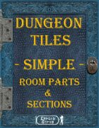 [Tiles] - Dungeon Tiles - Simple - Room Parts & Sections