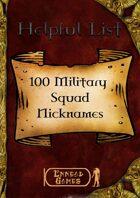 100 Military Squad Nicknames