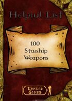 100 Starship Weapons