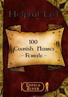 100 Cornish Names - Female