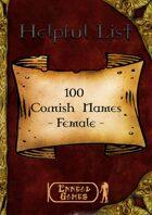 100 Cornish Names - Female