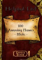 100 Amusing Names - Male