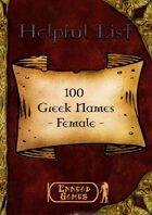 100 Greek Names - Female