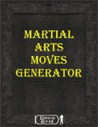 Martial Arts Move Generator