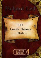 100 Greek Names - Male