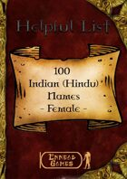 100 Indian (Hindu) Names - Female