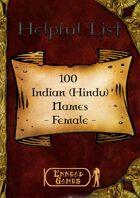100 Indian (Hindu) Names - Female