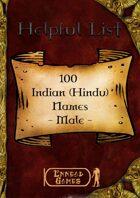 100 Indian (Hindu) Names - Male