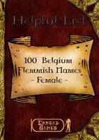 100 Belgium Flemish - Female