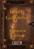 Insult Generator - Dwarven
