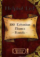 100 Estonian Names - Female