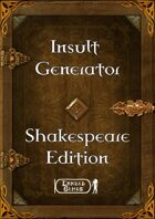 Insult Generator - Shakespeare Edition