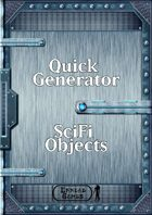 Quick Generator - SciFi Objects