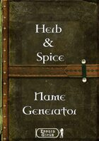 Herb & Spices Name Generator
