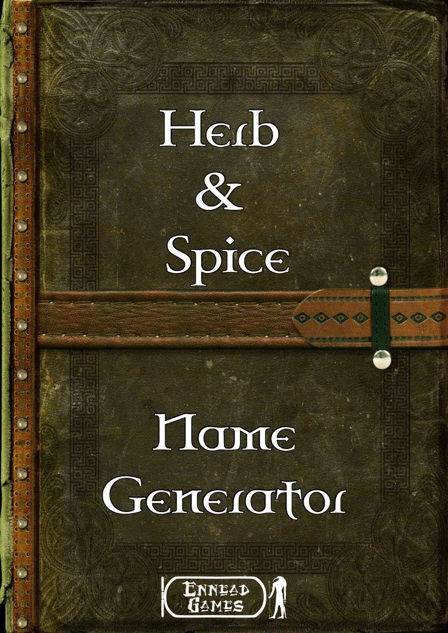 Herb Spices Name Generator Ennead Games Generators Dungeon Masters Guild Name generator is the perfect tool to generate endless possibilities and find it! dungeon masters guild