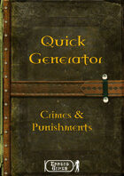 Quick Generator - Crimes & Punishments