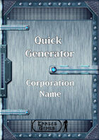Quick Generator - Corporation Name