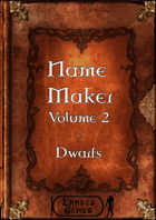 Name Maker Volume 2 - Dwarfs