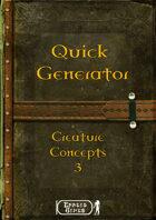 Quick Generator - Creature Concept 3