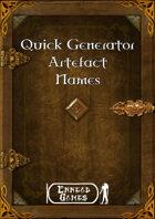Quick Generator - Artefact Name