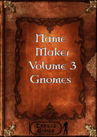 Name Maker Volume 3 - Gnomes