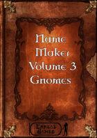 Name Maker Volume 3 - Gnomes
