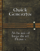Quick Generator - Alchemical Ingredient Names