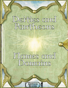 Deities and Pantheons - Names and Domains
