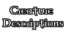 Creature Descriptions