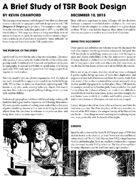 A Brief Study of TSR Book Design