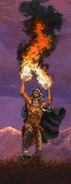 Infinite Images - Stock Illustration - Elemental Fire Shaman v3 - Half Page, 4c 300ppi