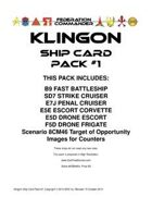 Federation Commander: Klingon Ship Card Pack #1