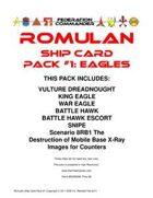 Federation Commander: Romulan Ship Card Pack #1