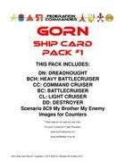 Federation Commander: Gorn Ship Card Pack #1