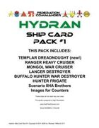 Federation Commander: Hydran Ship Card Pack #1