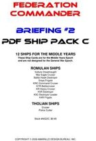 Federation Commander: Briefing #2 Ship Pack C