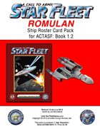 A Call to Arms: Star Fleet Book 1.2: Romulan Ship Roster Card Pack