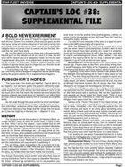 Captain's Log #38 Supplement