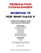 Federation Commander: Briefing #2 Ship Pack F