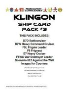 Federation Commander: Klingon Ship Card Pack #3