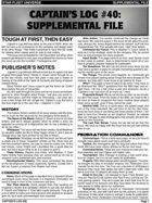 Captain's Log #40 Supplement