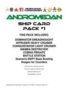 Federation Commander: Andromedan Ship Card Pack #1