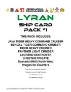 Federation Commander: Lyran Ship Card Pack #1