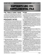 Captain's Log #51 Supplement