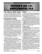 Captain's Log #51 Supplement