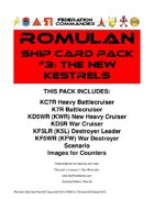 Federation Commander: Romulan Ship Card Pack #3