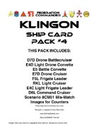 Federation Commander: Klingon Ship Card Pack #4