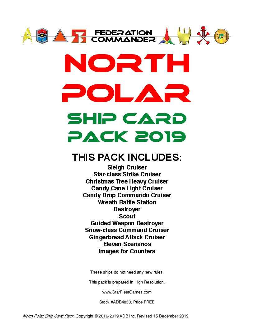 Federation Commander: North Polar Ship Card Pack