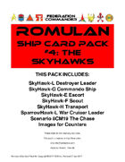 Federation Commander: Romulan Ship Card Pack #4